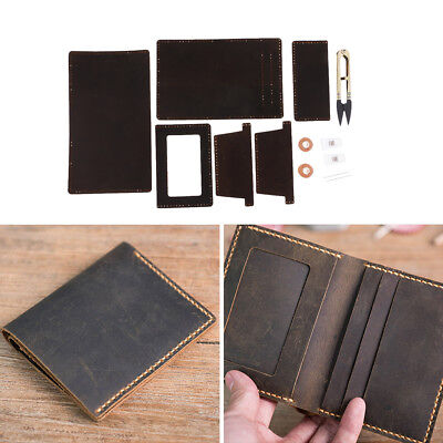 Leather Crafts Kits Fabric for Men's Wallet Purse Bag Making DIY Craft Sewing