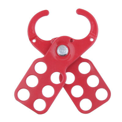 Safety Lockout Tagout Hasp w/PE Coat Handle Holds up to 6-Padlock, 1.5'' Jaw