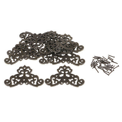 10pcs Antique filigree corner Jewellery wooden box DIY embellishment 44x44mm