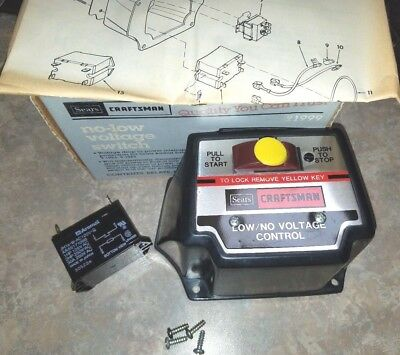 SEARS NO/LOW VOLTAGE CONTROL SWITCH 113.199900 for Craftsman Radial Arm Saws