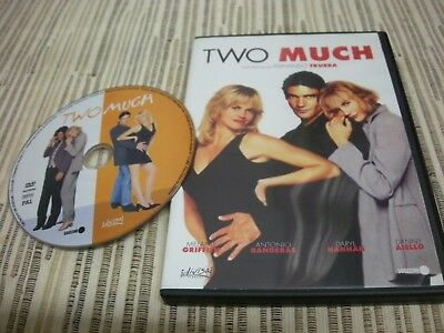 Dvd Two Much Antonio Banderas Melenie Griffin Usado Buen Estado