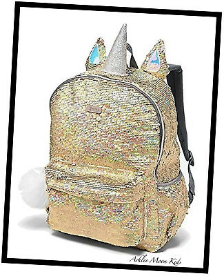 NWT JUSTICE Girls 🦄 Unicorn Flip Sequin Backpack FULL SIZE - So...Sparkly!
