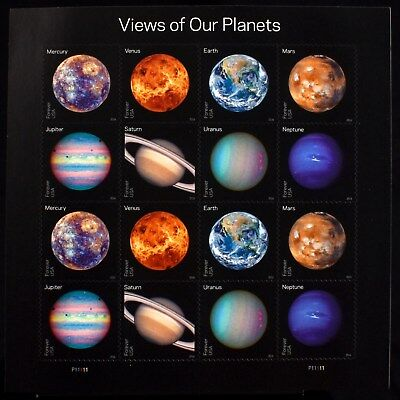 USPS Planets Forever Stamps Sheet Postage Views of our Earth Mars Solar System