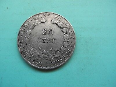 20 Cents Francaise 1937 Indochina, Silber