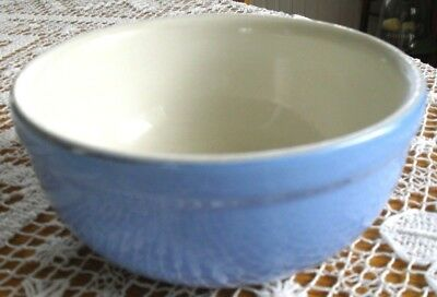 """Vintage Mid Century Mixing~Serving Bowl French Blue & White 5 1/4"""" X 2 1/4""""~"""