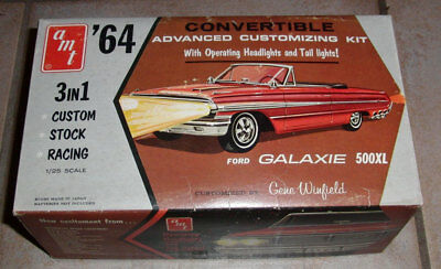 54 year old AMT 1964 Ford Galaxie CV 3in1 customizing kit with working lights