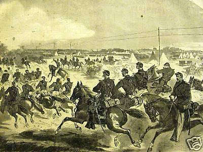 Winslow Homer UNION CAVALRY YORKTOWN CIVIL WAR 1862 Print Matted