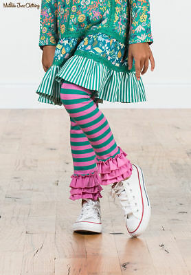 Matilda Jane Take Me Home Leggings Girls Size 4 NWT In Bag Make Believe Stripe