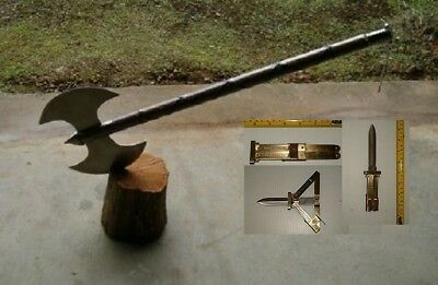 "30"" Medieval Double Edge Battle / Executioners Axe +Free Paratooper Knife"