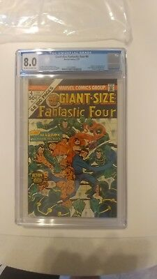 Giant Size Fantastic Four 4 CGC 8.0 Off-White to White Pages 1st Jamie Madrox