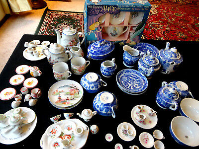 Vtg 9-Tea Set Collection!!! Joan Walsh Anglund, Steiff, Blue Willow 80+ Pieces