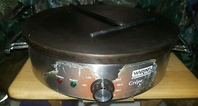 "Waring Commercial WSC160X 120V Electric 16"" Crepe Maker with spreader"