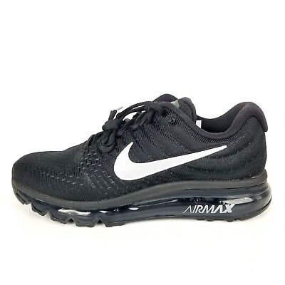 new arrival a0e01 9bee3 Nike Air Max 2017 Sz 6 Black Anthracite Womens Running Shoes NEW 849560 001