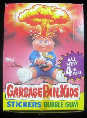 Garbage Pail Kids 4th Series Full Box 48 Sealed Wax Packs S 4 - RARE Case Find!