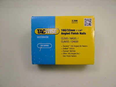 2nd fix collated angled brad nails Tacwise brand 16 gauge 32mm box of 2500