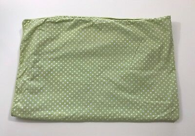 POTTERY BARN KIDS Green Mini Dot Toddler Duvet Cover EUC
