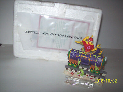 A Little Holiday Action From The Simpson Christmas Express train in box & coa