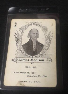 c.1900 In The White House Card Game James Madison  **05533