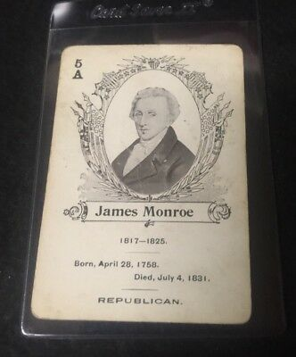 c.1900 In The White House Card Game James Monroe  **05534