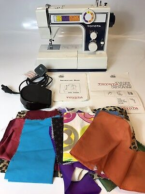 Sewing Machine TOYOTA MODEL 2400 VERY GOOD CONDITION,FOOT PEDAL & ACCESSORIES