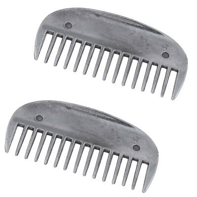 2pcs Stainless Steel Horse Curry Comb Brush Horse Grooming Equestrian Tool