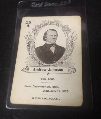 c.1900 In The White House Card Game Andrew Johnson **05544