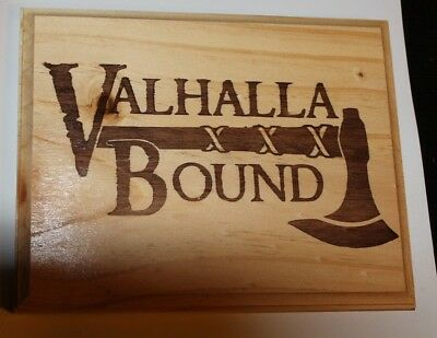 Valhalla Bound -  decorative plaque - Viking - Norse
