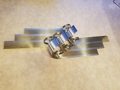 Mid Century Modern Curtis Jere Kinetic Ribbon Wall Sculpture Brass, Chrome