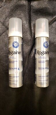 ROGAINE MEN'S FOAM 2 MONTH SUPPLY 5% minoxidil topical 2 cans NEWEST Exp 2/2020