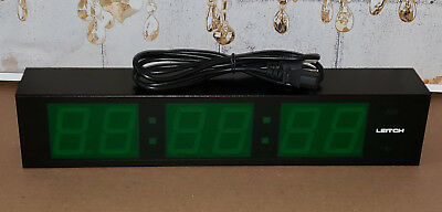 Leitch DTD-5225G Large Green Digital Timecode Clock Date Wall Display DTD-5225