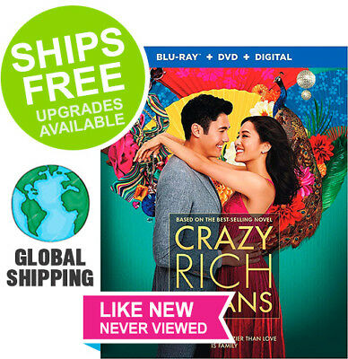 Crazy Rich Asians (DVD + Digital) NO BLU-RAY DISC ✴NEVER VIEWED✴