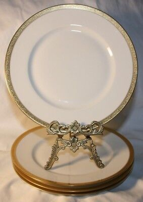 Set of 3 Limoges Vignaud Gold Encrusted Trim Vintage Porcelain for Use