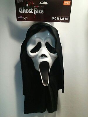 New - Fun World - 2018 - Scream Ghost Face Mask Halloween with Tags