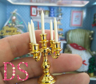 """1/6th Scale Golden Candlestick Mode Dinnerl For 12"""" Action Figure Scene Props"""