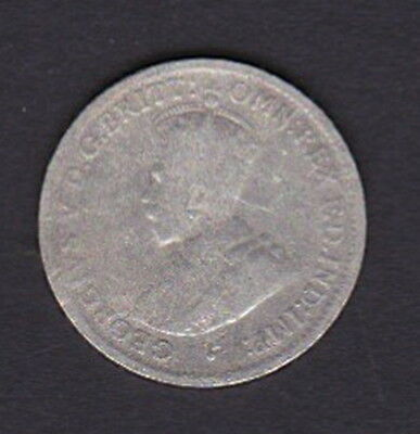 """1918 Australia  -   3d Mintmarked """"M"""" Threepence KGV Silver 92.5% Vintage Coin"""