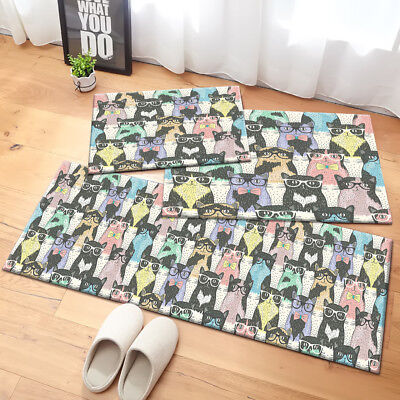 Hipster Cute Cats Design Area Rugs Bedroom Carpet Living Room Kitchen Floor Mat