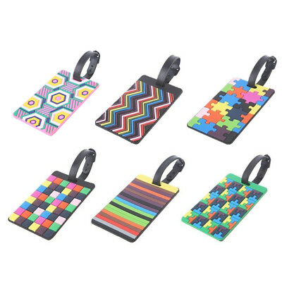 Travel Luggage Tag Label Strap Name Address ID Suitcase Bag Baggage Secure