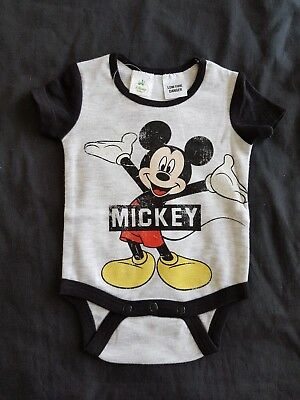Boys new MICKEY MOUSE romper size 0000