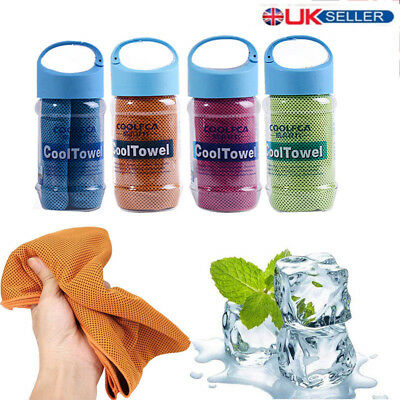 ICE Cold Cool Down Towel Gym Sports Fitness Cycling Quickly Absorb Sweat Cloth