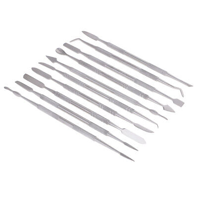 10Pcs Steel Clay Sculpting Set Wax Carvers Carving Pottery Sculpture Shaping