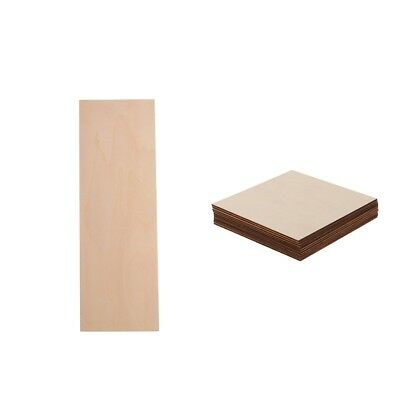 Rectangle/Square Wooden/Bass Wood MDF Shape Plaque Unfinished Pieces for DIY