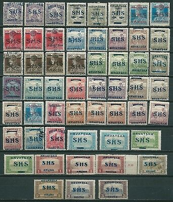 Croatia Yugoslavia 1918-19 Lot Of Many Shs Ovpt On Hungary Stamps -Cag 261018