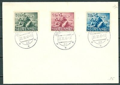 Slovakia 1941 Cover Set Semi-Postal Stamps Medical Corpsman & Soldier-Cag 030918