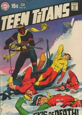 Teen Titans (1st Series) #24 1969 VG- 3.5 Stock Image Low Grade