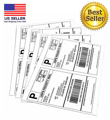 100 SHIPPING LABELS Buy TWO get ONE FREE Blank Shipping Labels-2 Per