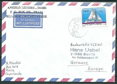 Cape Verde 1991 Cover, Praia To Berlin Germany, Nice Stamp -Cag 250918