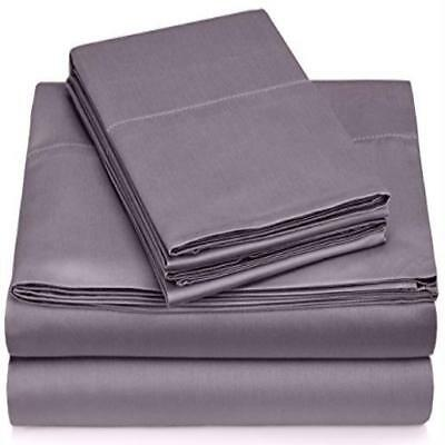❤ Bed Sheet Pinzon 400-Thread-Count Egyptian Cotton Sateen Hemstitch Set King Pa
