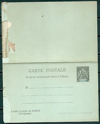 Benin France Colonies Old Postal Stationery Card & Reply Unused -Cag 220718