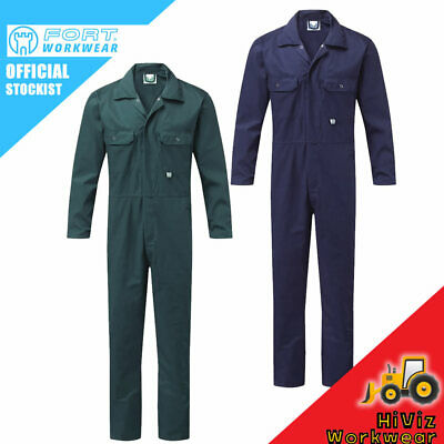 Blue Castle Mens Stud Front Boilersuit Coverall Workwear Overalls Chest Pockets