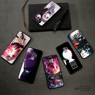 Black/White TPU Tokyo Ghoul Anime Phone Back For Samsung Galaxy S7/7E S8/S9 Plus
